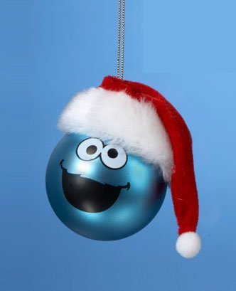 Sesame Street Cookie Monster Christmas Ball Ornament 2.5