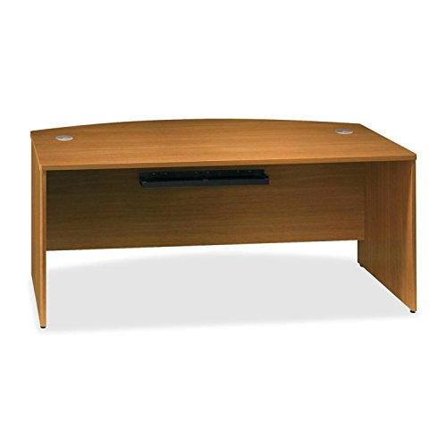 Bush BBF Quantum 72W Bow Front Desk Shell in Modern Cherry by Bush Business Furniture