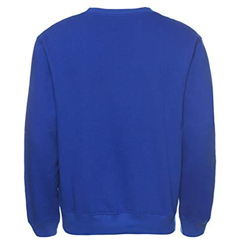 Felpa 1 Lunga Pullover Sweatshirt Disponibili Manica Blu Top Girocollo Uomo Colori Nove Heheja Sportivo wqOHIq