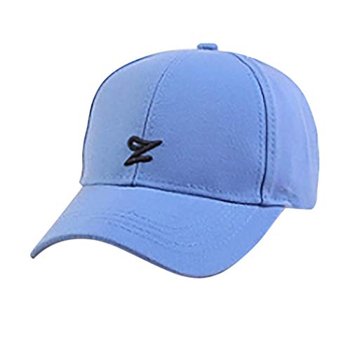 Letter Z Embroideried Baseball Cap,Crytech Fashion Embroidery Plain Breathable Cotton Hip Hop Dad Hat Adjustable Casual Outdoor Wild Low Profile Hip-Hop Sun Visor Sunhat for Women Men (Blue)