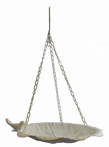 Vogeltränke zum aufhängen Dekofigur Vogel Garten Dekoration aus Metall