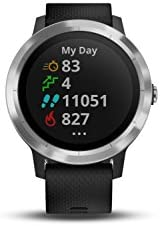 Garmin 010-01769-01 Vivoactive 3, GPS Smartwatch with Contactless Payments and Built-In Sports Apps, Black with Silver Hardware 311k99wsFAL