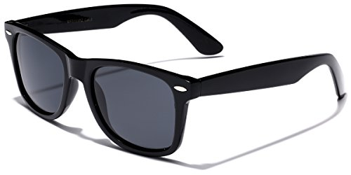 Retro Rewind Classic Polarized Sunglasses (Black | Smoke Polarized, 52)