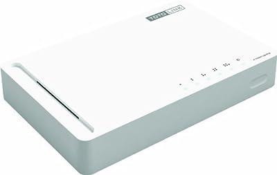 TOTOLINK S505G - 5 Port 10/100/1000MBps Gigabit Ethernet Switch - 802.3/U/AB/X - 5 Auto-Negotiation RJ45 Ports