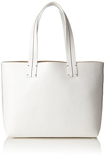 French Connection Damen Farrah Tote Bag Schultertasche, Weiß (White/Utility Blue), 44x14x1 cm