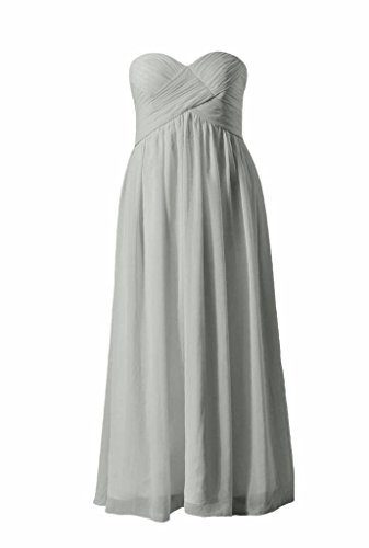 Strapless Party Bridesmaid Dress gray BM824 Dress DaisyFormals Long Beach Chiffon Wedding 55 wH0EqZSn5
