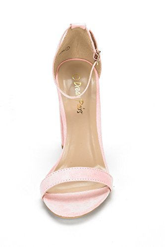 PAIRS Womens Pink High Pump Sandals Chunk Suede Heel Hi DREAM vB6dUxqB
