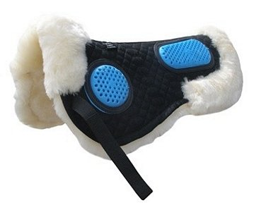 Gel-eze Sheepskin Pad Medium Black  Natural Black  Natural, Medium