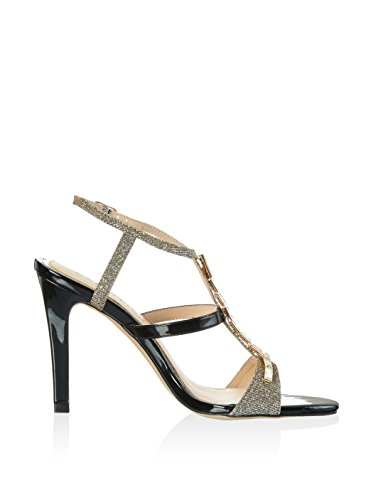 CAFèNOIR Lc002, Women's High-Heel Sandals Silver