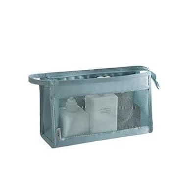 LULANVoyage en plein air et voyage make-up bag, pratique, pendaison transparent étanche sac de lavage grande baignoire,26*15*9CM, bleu