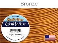 Soft Flex 24 Gauge Craft Wire, Bronze. (Sold as - 1 Spool Per Pack)