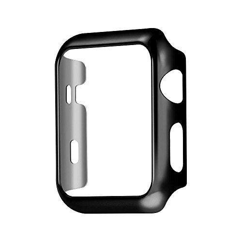 Case Compatible with Apple Watch 38mm Series 2 Slim PC for Electroplate Plated (BLACK, Apple Watch 38mm)