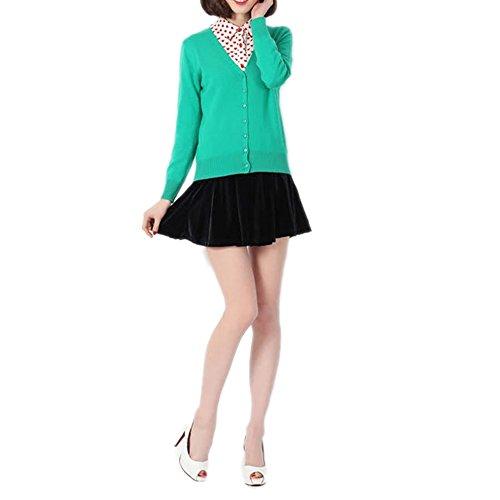 en Laine Femme M Col Basic Cardigan HIDOUYAL Gilet Classique V Pull 68HBqO