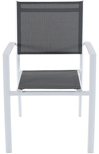 Hanover CAMDN11PC-WHT Cameron 11-Piece Expandable 10 Sling Chairs and a 40 x 94 Table Outdoor Dining Set, White