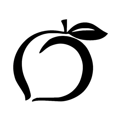 georgia peach decal - 4