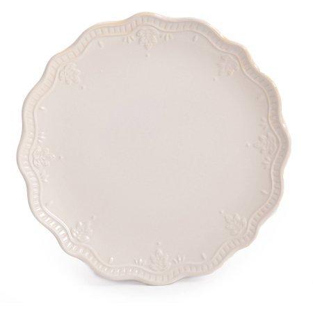 The Pioneer Woman Farmhouse Lace Dinnerware Set, 12-Piece - Linen