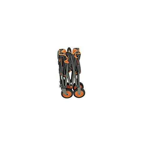 Unbekannt Portail Alf de Chariot pliable, 91x 48x 55cm, 10,2kg, charge max. 100kg Landau, gris, orange, L