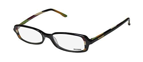 Missoni 08802 Womens/Ladies Designer Full-rim Eyeglasses/Eyeglass Frame (49-16-135, Black / - Frames Glasses Missoni