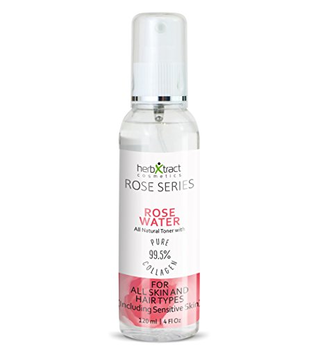 Rose Collage (Rose Water Toner Spray from Organic Rose Oil + Pure Collagen. No additives - 4 fl.oz.)