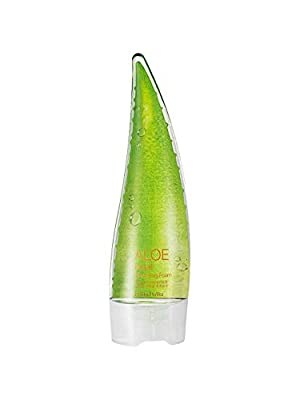 (Pack of 2) Holika Holika Aloe Facial Cleansing Foam, 150ml with KAI Eyebrow Razor