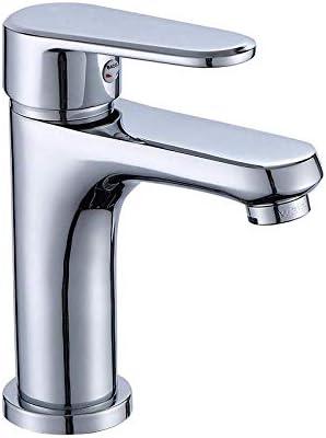 CLJ-LJ バスルームのシンクは、スロット付き浴室の洗面台のシンクホットコールドタップミキサー流域の真鍮シンクミキサータップ流域の蛇口の銅単穴ホットと冷水の蛇口バスルームの洗面ミキサーバルブ蛇口をタップ