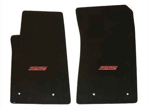 Lloyd Mats ® – Classic Loop Ebony Front Floor Mats For Chevrolet Camaro with SS Red Logo