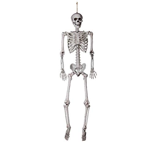 100 Floors Seasons Halloween Floor 15 (Fan-Ling Jointed Human Skeleton Decoration,Halloween Party Decoration Poseable Full Size Human Skull Skeleton Anatomical,Halloween SkeletonProps, Best Halloween Decoration (A:90 X 25 X)