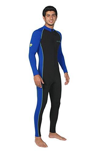 (Sun Protective Stinger Swimsuit Dive Skin Chlorine Resistant UPF50+ Black Royal XXL)