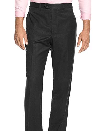 Ralph Lauren Lauren Slim Fit Solid Charcoal Gray Flat Front Wool Dress Pants ()