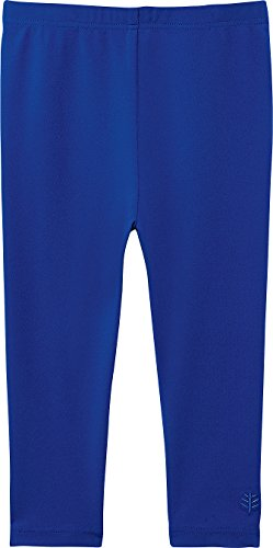 Ruffled Tights - Coolibar UPF 50+ Baby Swim Tights - Sun Protective,18 Months, Blue Wave