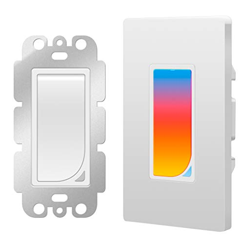 Smart WiFi Light Switch with Built-in RGB Dimmer Night Light Compatible with Alexa,Google Assistant and IFTTT, In-Wall