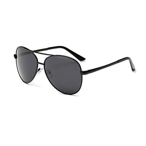 Sol Oro Sol Gafas Color para Conducción Y De LBY De Gafas Hombres Hombre para Sol Montura Hombres Mujeres Espejo Gafas Sol Metálica con Negro Polarizadas Gafas De de Polarizadas De ppTwfSZq