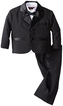 Joey Couture Baby Boys' Tuxedo Suit No Tail, Black, 18 Months/Large