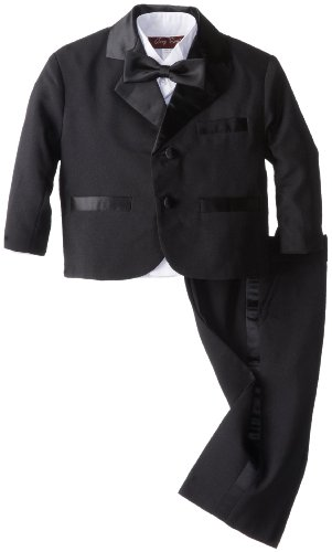 Joey Couture Baby Boys' Tuxedo Suit No Tail, Black, 24 Months/X Large