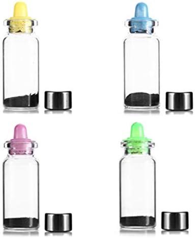 SM SunniMix 4 Stücke Kreative Magnet Pulver Nippel Flasche Stressabbau Pädagogisches Spielzeug