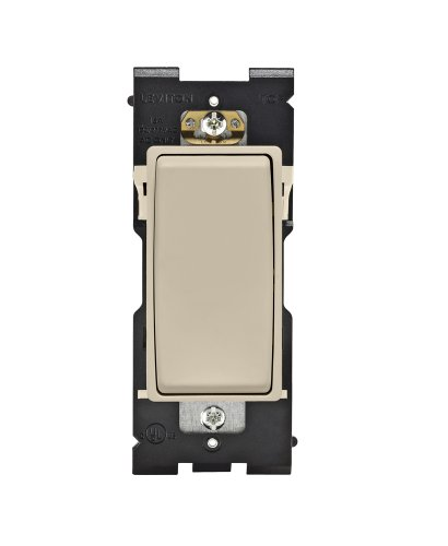 Single Navajo - Leviton RE151-NS Renu Switch for Single Pole Applications, 15A-120/277VAC, Navajo Sand