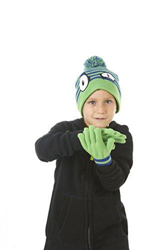 Polar Wear Boys Monster Face Winter Knit Pom Pom