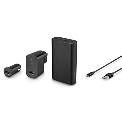 Belkin MIXIT↑ Metallic Colormatch Charge Kit + Cable (Black) ()
