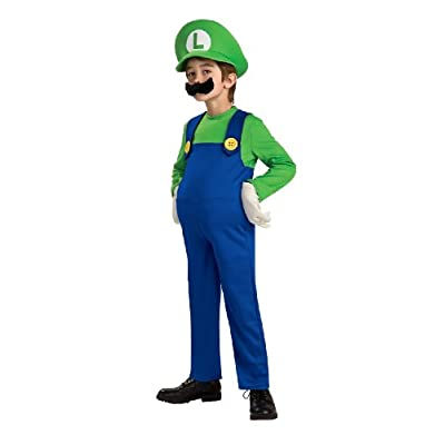 Super Mario Brothers, Deluxe Luigi Costume, Medium: Toys & Games