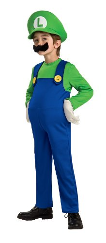 Super Mario Brothers, Deluxe Luigi Costume, Medium (Mario And Luigi Costumes Kids)