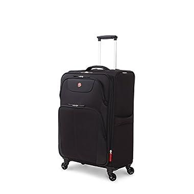 SwissGear Meyrin 24.5  Expandable Spinner Suitcase, Black