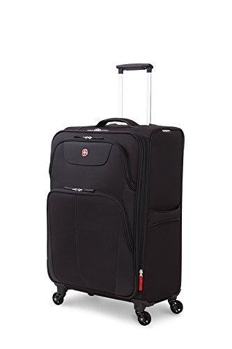 SwissGear Meyrin 24.5'' Expandable Spinner Suitcase, Black by SwissGear