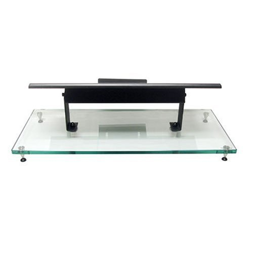 Lovan M2 Center Channel Speaker Stand w/Clear Glass and Black Frame by LOVAN USA