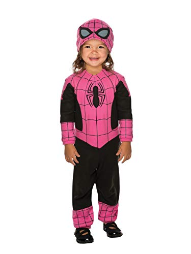 Spider Girl Costume For Toddler (Rubie's Super Hero Adventures Pink Spidergirl)