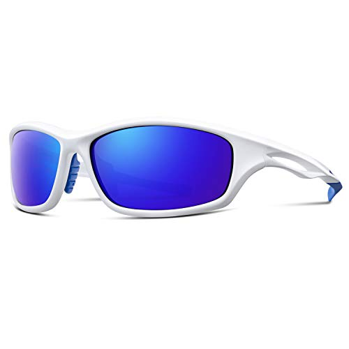 ALPMENT HD Polarized Sports Sunglasses for Men Women Fishing Golf Skiing Water Sports TR90 Unbreakable Frame with Ultra Lightweight Adjustable Temple, Rectangular Royal Blue ()