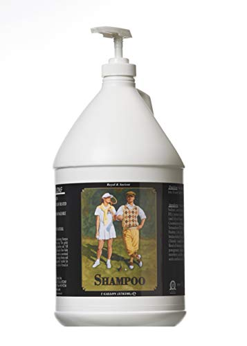 Royal and Ancient revitalizing shampoo leaves your hair manageable and shiny. Strengthens, Softens and Protects. Used in clubs throughout the world. Essence of sandalwood. Gallon