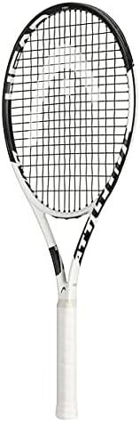 HEAD Metallix Attitude Pro White Tennis Racket - Pre-Strung Adult Tennis Racquet for Control and Maneuverabili