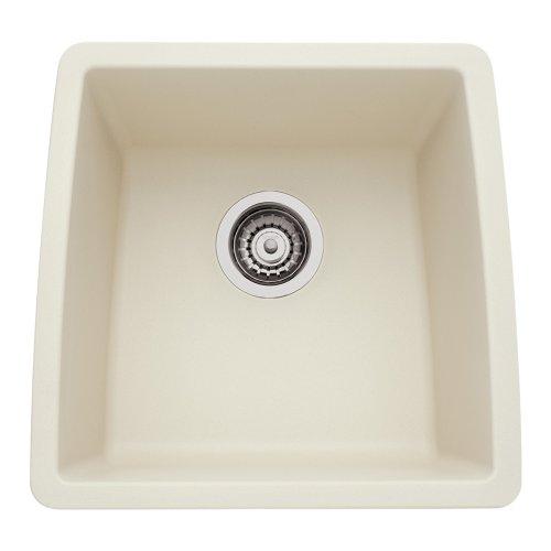 Biscuit Undermount Sink (Blanco 440080 Performa Silgranit II Single Bowl Sink, biscuit)