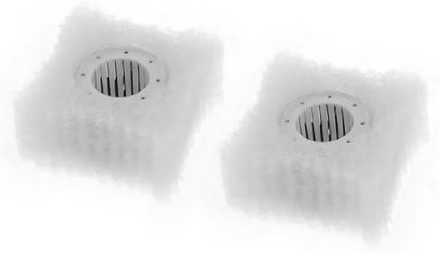 sourcingmap® 2 x Caja de carbón activado bioquímico Pecera esponja filtro de acuario
