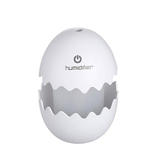 KingTo Mini USB Portable Air Humidifier Egg Shape For Home Office Travel Car Bedroom(white) by KingTo